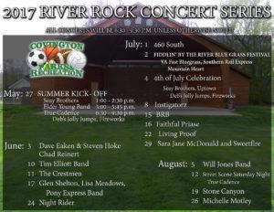 Amphitheatre Event Schedule2017