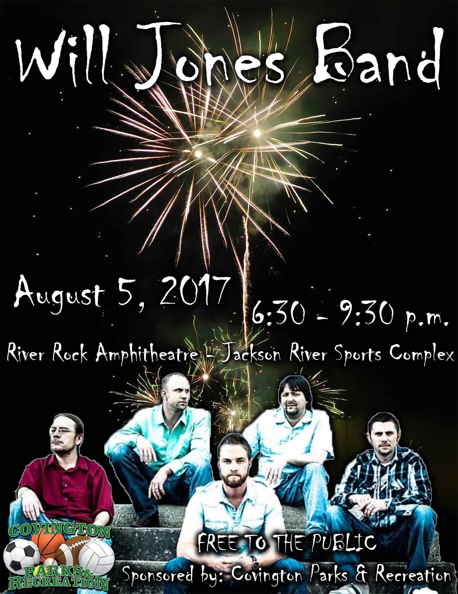 Will Jones Band August 5
