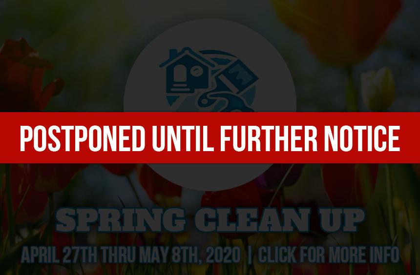 2020springcleanup Postponed