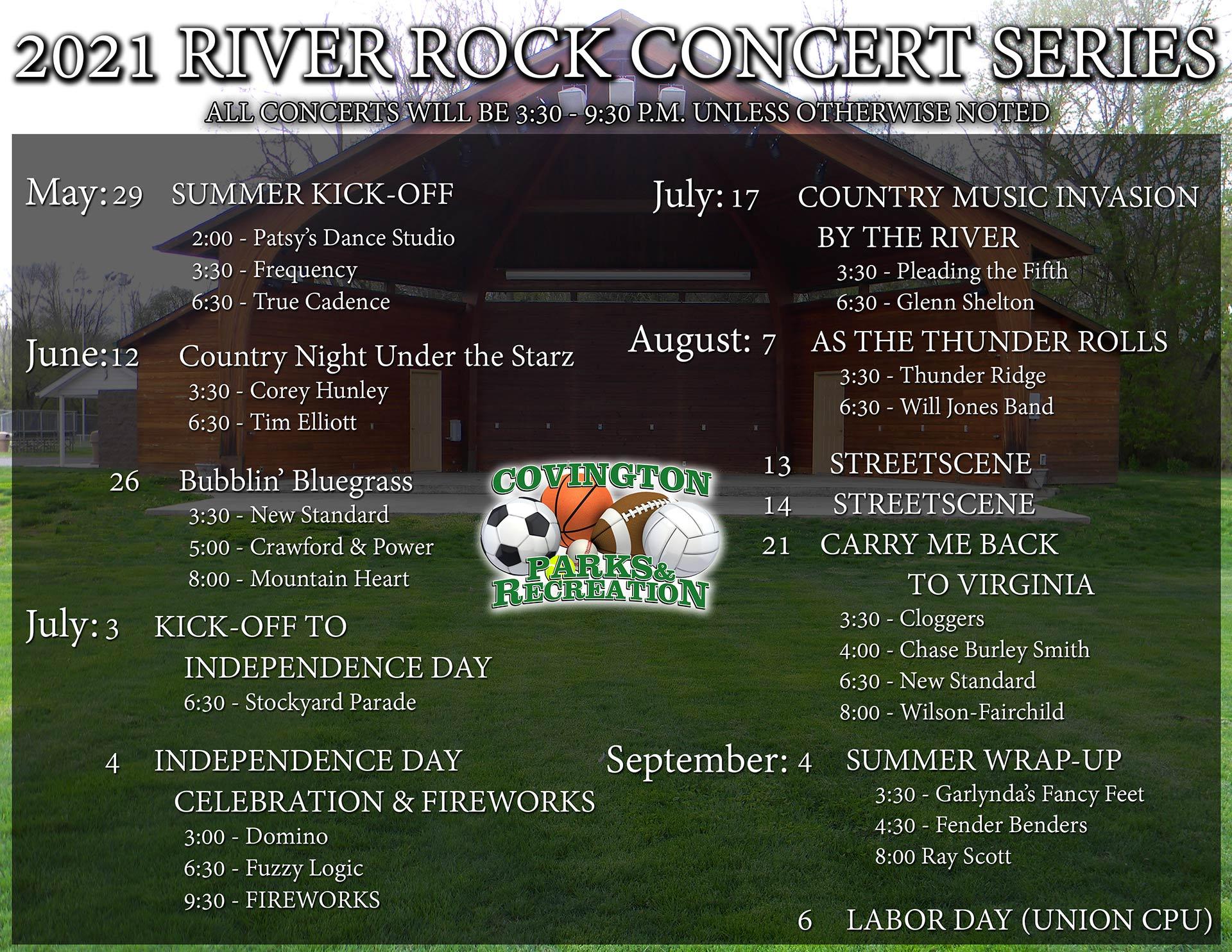 Amphitheatre Event Schedule2021